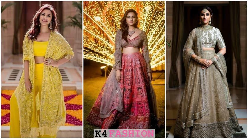 Parineeti Chopra in Gorgeous Outfits fit for Bridesmaids - K4 Fashi