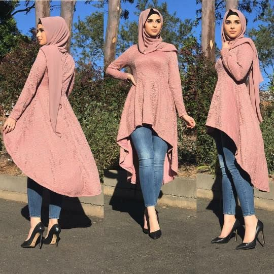 40 Stylish Ways to Wear Hijab with Jeans for Chic look | Muslim .