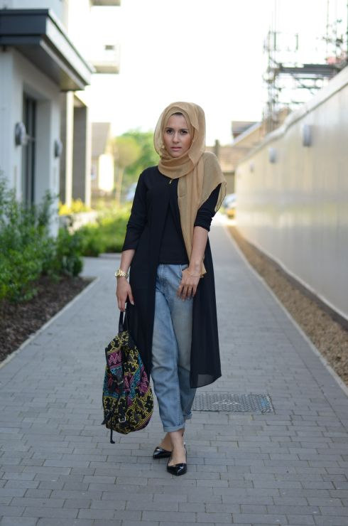 30 Stylish Ways to Wear Hijab with Jeans for Chic look | Outfit .