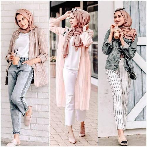 Summer hijab trends | Hijab trends, Hijabi outfits casual, Hijab .