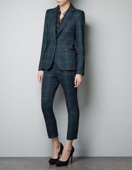 Zara Multicolor Tartan Blazer   Zara looks, Woman suit fashion .