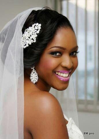 Pin by Wyette K on African American Weddings   Bridal hairstyles .