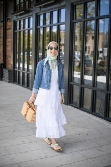 20 Ways To Wear Hijab With Denim Jackets For A Chic Lo