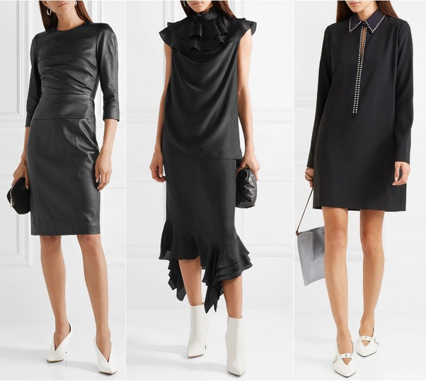 What shoe color goes best with a black dress? - Quo