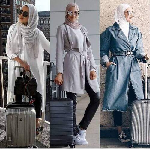 What to wear as a hijabi traveler | Hijab trends, Stylish hijab .