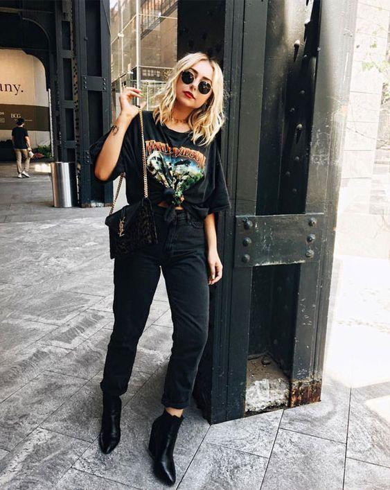 Woman All Black Outfits #woman #fashionoutfits #blackoutfit .
