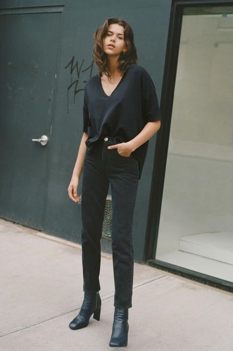 All-Black Outfits for Fall | All black outfit, Black outfit, Black .
