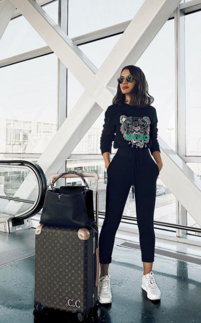 Our off duty airport look! | Fashion travel outfit, Airport outfit .