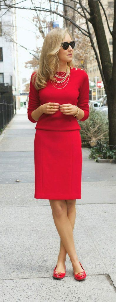 Women's Outfits with Red Shoes- 30 Outfits to Wear with Red Shoes .